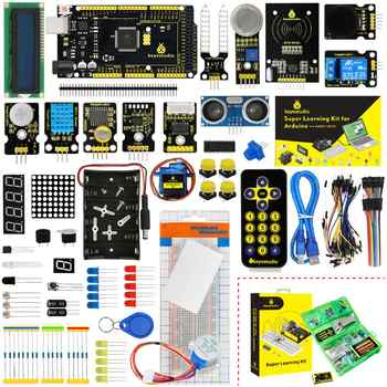 Updated Version Keyestudio Super Starter Kit With Mega2560R3 Board(USB serial Chip is CP2102)For Arduino Starter Kit +Tutorial - DISCOUNT ITEM  10 OFF Electronic Components & Supplies