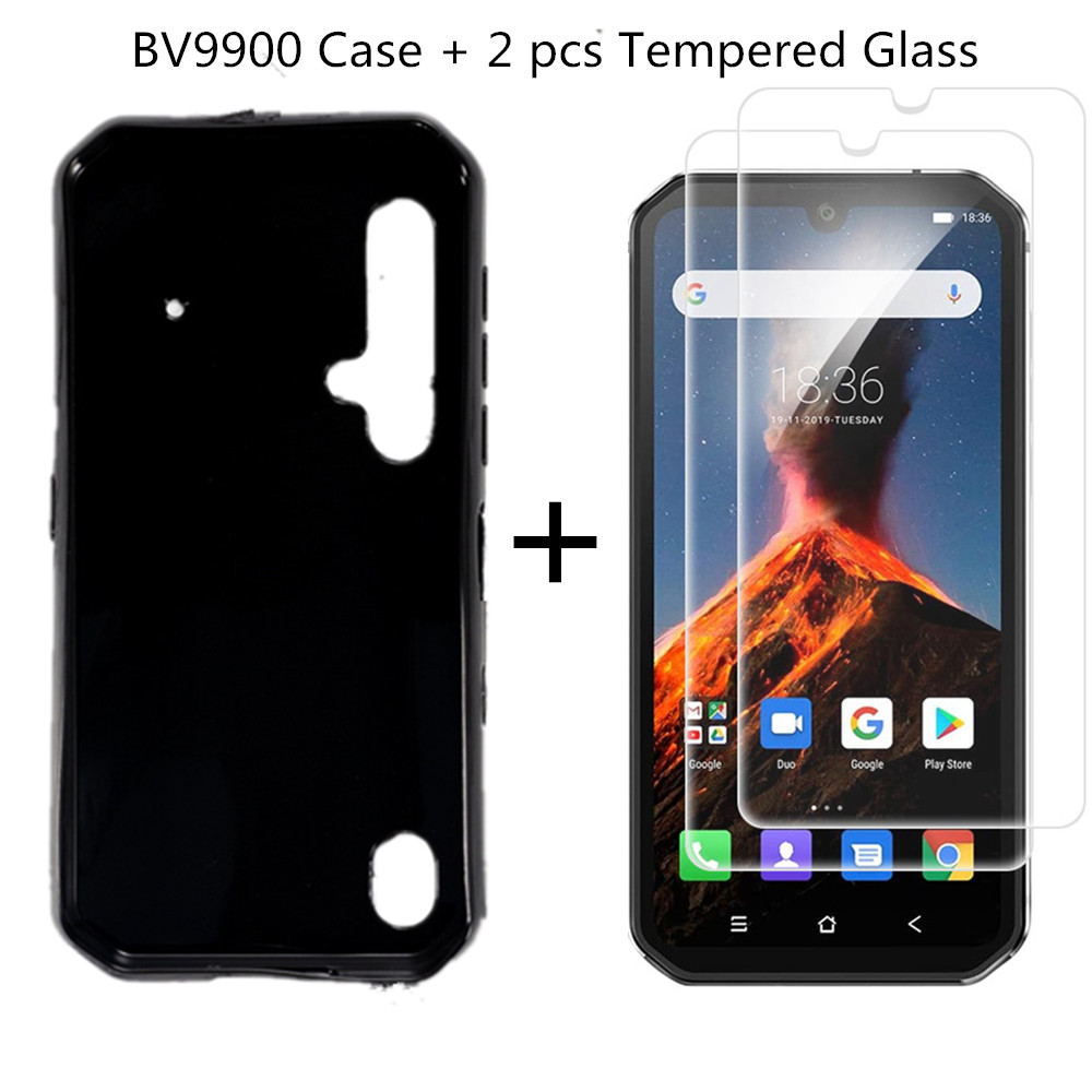 2 Pcs Phone Tempered Glass+TPU Case For Blackview BV9900 Screen Protector Clear For Blackview BV9900 Pro Premium Screen Guard(China)