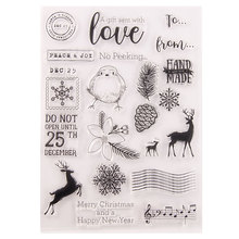 Clear Stamps for DIY Scrapbooking Card Christmas Deer Transparent Stamp Making Photo Album Crafts Decor Snowflake New 2020 Stamp au1212 austria 2012 christmas maria sarkozy altar painting stamp 1 new 1206