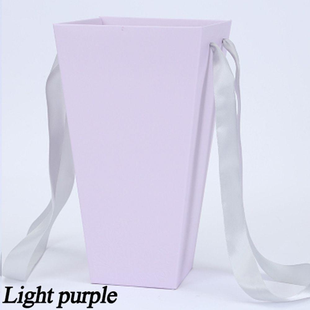 165*120 мм новые круглые бумажные коробки для цветов с крышкой, ведерко для цветов, подарочная упаковочная коробка, подарочные коробки для конфет, вечерние, Свадебные Поставки - Цвет: B(light purple)