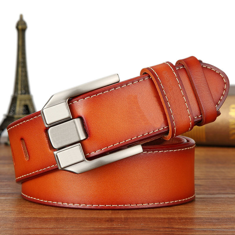 Belts   men real cow leather business designer   belt   men vintage luxury quality genuine leather   belt   man buckles for trousers 6168