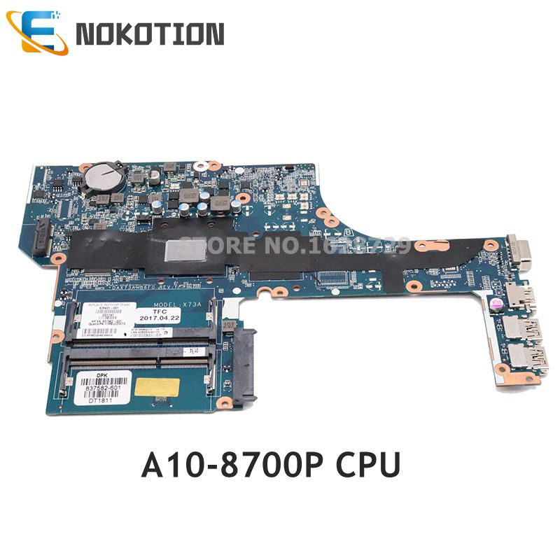NOKOTION 828431-001 828431-601 DAX73AMB6E1 For <font><b>Hp</b></font> probook <font><b>455</b></font> G3 Laptop <font><b>Motherboard</b></font> DDR3 A10-8700P CPU works image