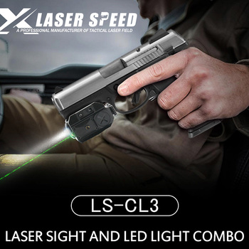 Tactical Combo Weapon Flashlight + Red/Green Laser Sight For Pistol Gun Rifle Self Defense Hunting With Picatinny Rail