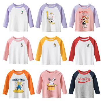 Kids Boys Girls Kids T-shirts Baby Long Sleeve Tee Tops Children Autumn Solid Cotton Years Boy Girl T Shirts Clothing Clothes girls plaid blouse 2019 spring autumn turn down collar teenager shirts cotton shirts casual clothes child kids long sleeve 4 13t