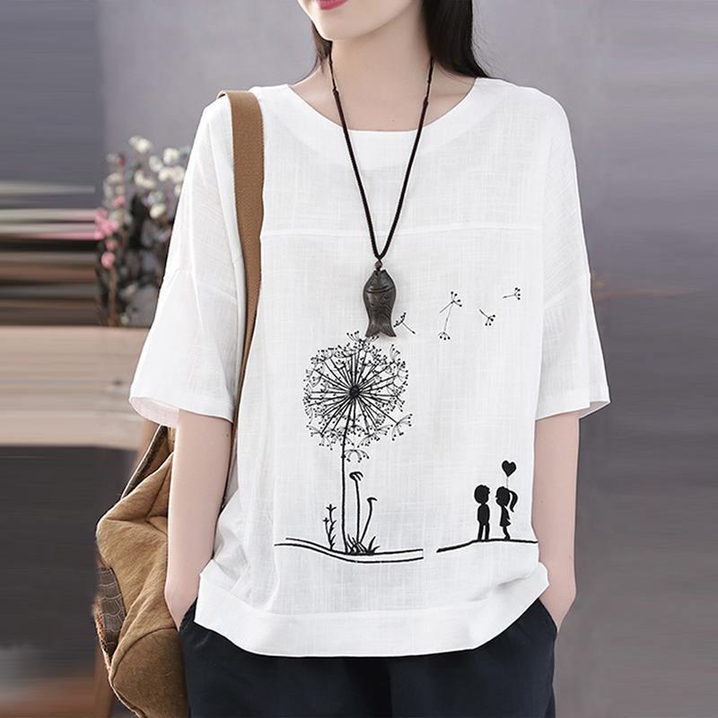 was willst du denn noch Damen T-Shirt Wach und angezogen Baumwolle