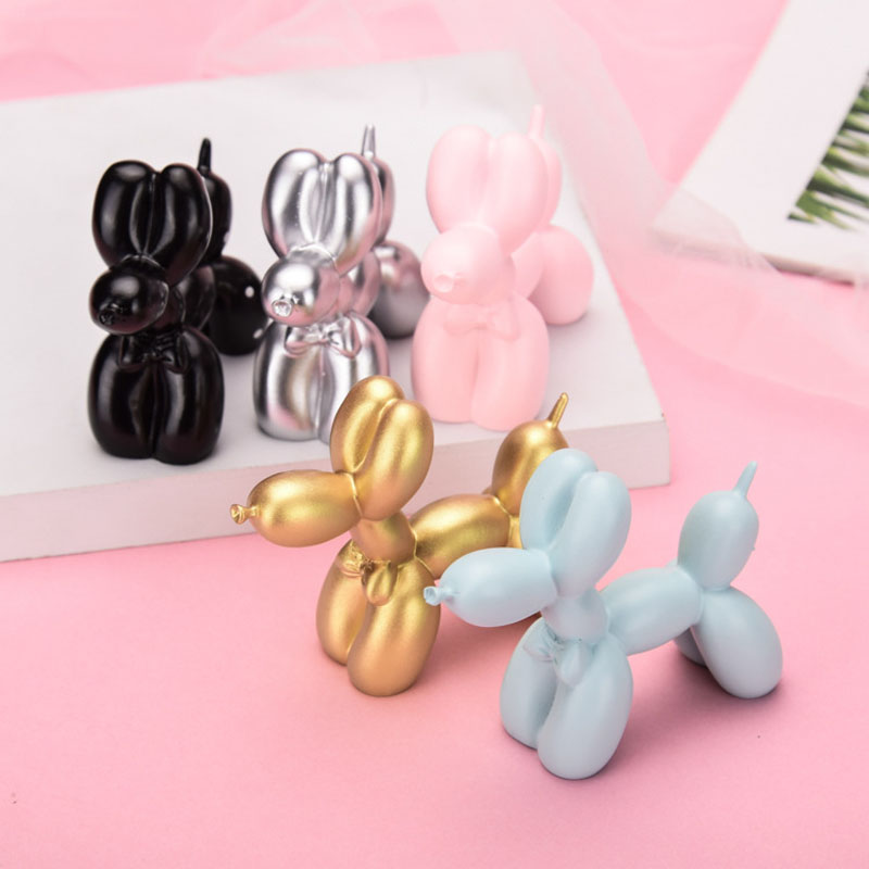 Mini Cute Small Balloon Dog Resin Crafts Sculpture Gifts Cake Baking Home Decorations Party Dessert Desktop Ornament Party Toys