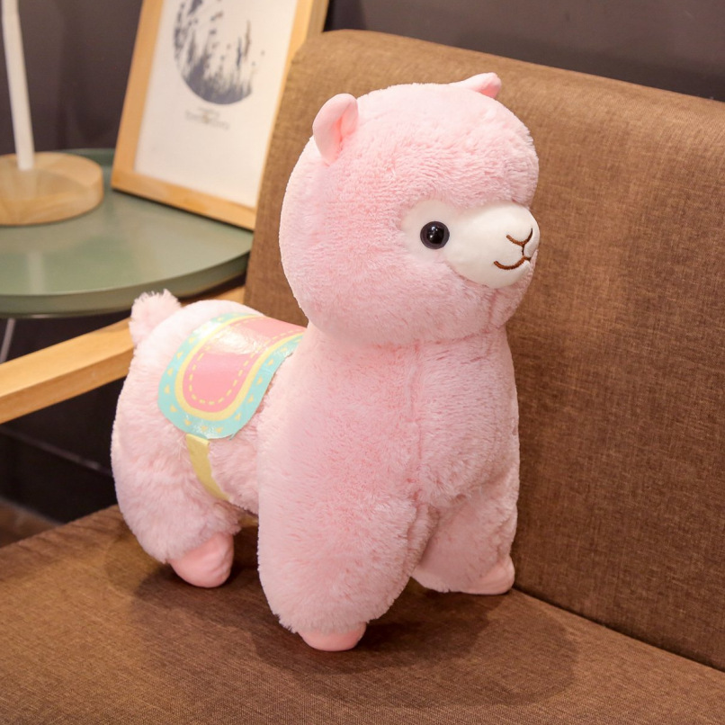 New Cartoon Animal, Grass Mud Horse, Plush Toy Doll, Saddle, Alpaca, Cloth Doll For Children And Girls' Birthday, Christmas Gift