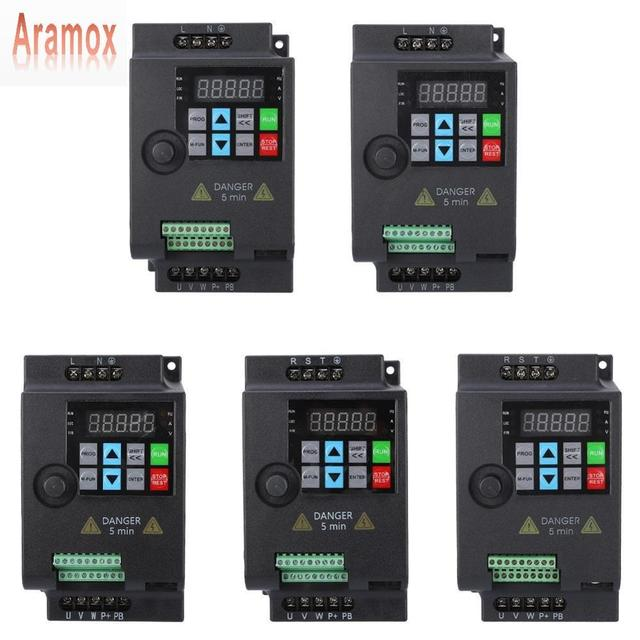 Aramox SKI780 Mini VFD Variable Frequency Converter for Motor Speed Control 220V/380V 0.75/1.5/2.2KW Adjustable Speed frequency