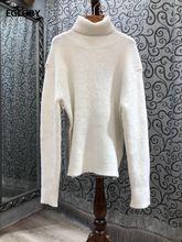 Женский трикотажный свитер водолазка Повседневный пуловер составного