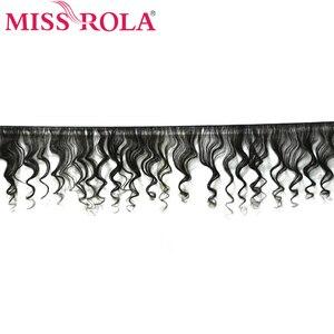 Image 2 - Verpassen Rola Haar Malaysische Lose Welle 3 Bundles Mit Verschluss 100% Menschliches Haar Bundles Malaysische Haar Mit 4*4 spitze Schließung Nicht Remy