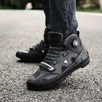 MJ MOTO New Brand Motorcycle Shoes Men/Women Pink/Black Motocross Boots Breathable Bike Shoe Self Locking Ultralight Athletic