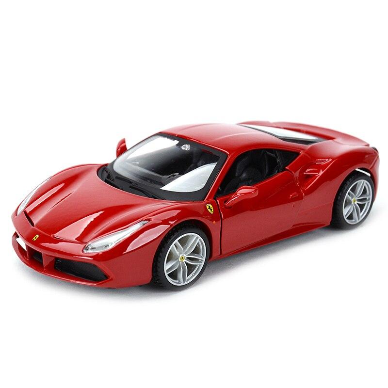 Bburago 1:32 488 GTB Sports Car Static Simulation Diecast Alloy Model Car