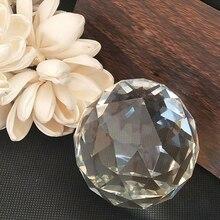 Хрустальные Граненые шаровые стеклянные шары стеклянные хрустальные подвески для люстры детали люстры Призма Висячие Подвески