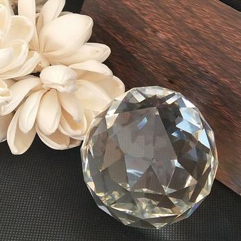 Kryształowe kulki szklane kule szklane wisiorki z kryształami do żyrandola części do żyrandola wisiorki wiszące pryzmat łapacz światła tanie i dobre opinie 40mm Kryształowy żyrandol dropcrystal crystal faceted balls 40mm 50mm 60mm 70mm 80mm 100mm clear K9 crystal safe package