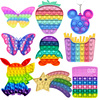 White Cloud Rainbow Pops Bubbles Fidget Toy Its Anti Stress Relief Toy For Children Adults Desk Sensory Autism Adhd Depression