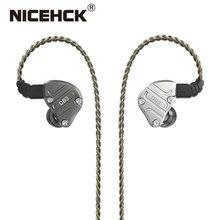 NiceHCK – écouteurs intra-auriculaires hybrides DB3 1BA + 2DD, 3 unités d'entraînement, casque d'écoute hi-fi pour Sport, course, DJ Stage, NX7/F3