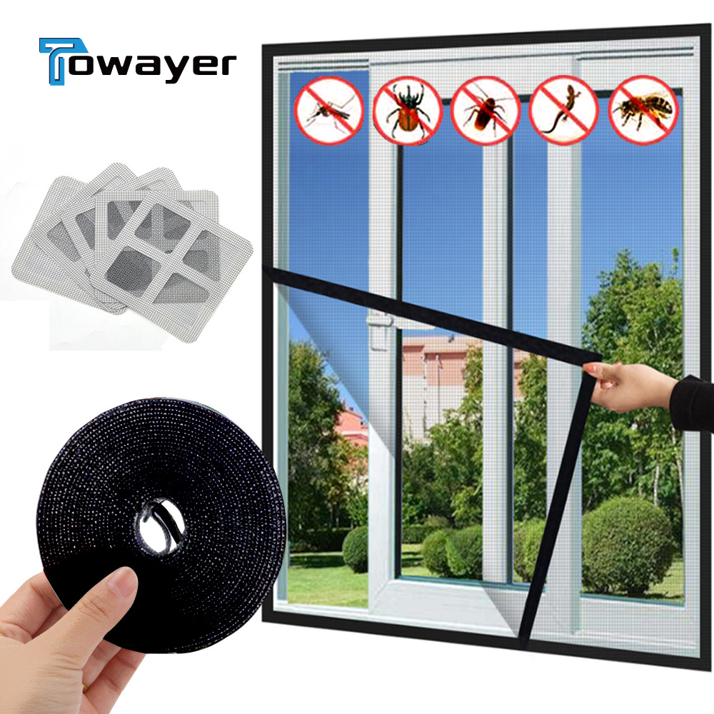 New Indoor Insect Fly Mosquito Window Screen Mesh Curtain Mosquito Netting Door Anti Mosquito Net  Removable Washable