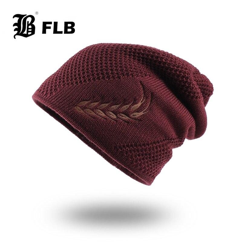 [FLB] Knitted Hat Men Winter Beanie Hat Winter Hats For Men Fur Bonnet Women Skullies Beanies Gorro Balaclava Beanies Cap F18079