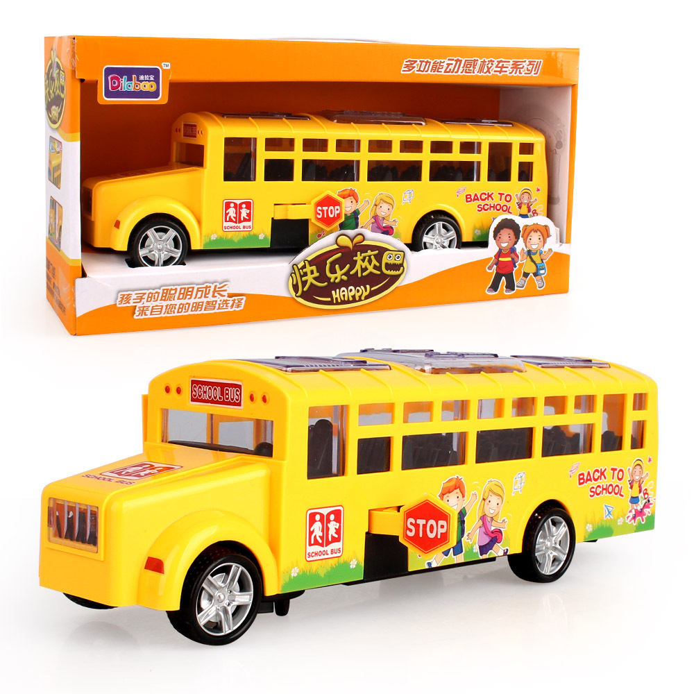 New Products Direct Selling Electric Universal School Bus Children Light And Sound Automatic Door Opening School Bus Model Toy