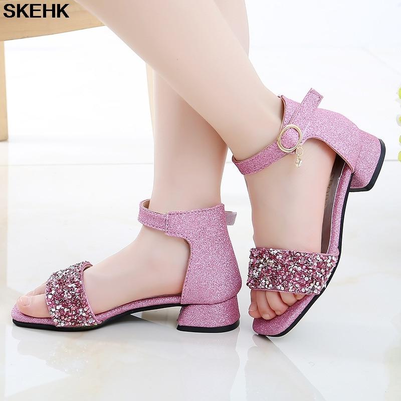 Girl'S Sandals 2020 New Style Fashion Korean-style High Heels Princess Shoes CUHK Boy Girl Peep-Toe Anti-slip Gladiator Sandals