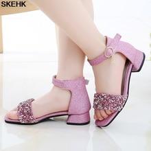 Girl'S Sandals 2020 New Style Fashion Korean-style High Heels Princess Shoes CUHK Boy Girl Peep-Toe Anti-slip Gladiator Sandals стоимость