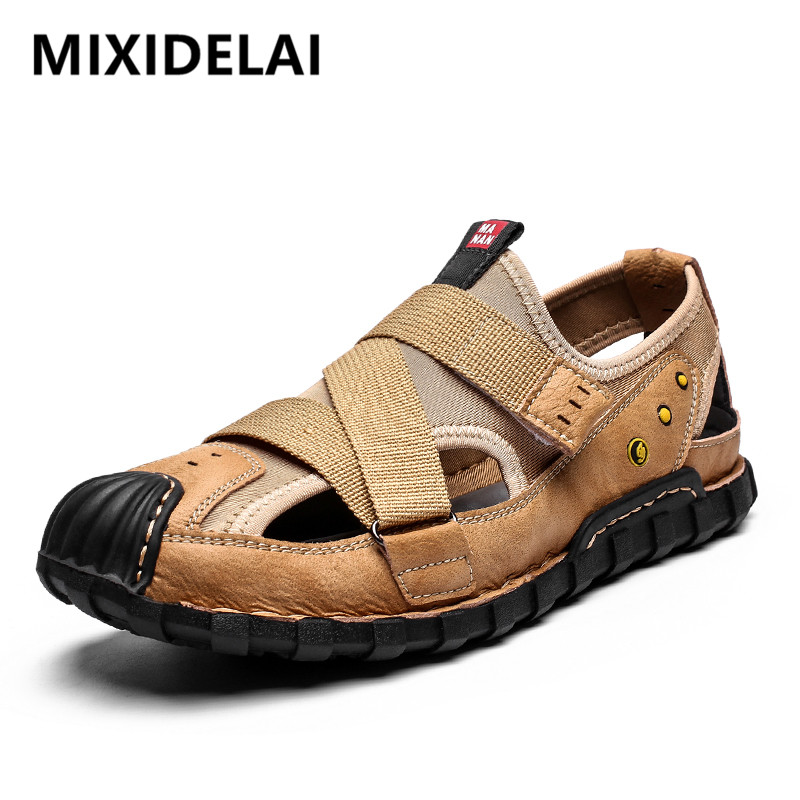 2020 High Quality Sandals Men Beach Sandals Comfort Casual Shoes Breathable Summer Men Shoes Summer Roman Sandals Plus Size 48