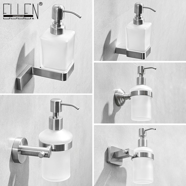 ห้องน้ำ Liquid SOAP Dispenser ติดผนัง 304 สแตนเลสแปรง Bickel สำเร็จรูปแชมพูสบู่ ML9313