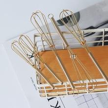 Stainless Steel Mini Size Egg Beater Hand Whisk Gold Multifunctional Mixer Baking Cake Tool