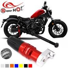Para honda rebel 500 cmx500 cmx 500 acessórios da motocicleta cnc proteção de escape slider acidente almofada slider