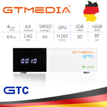 GTMEDIA GTC Satellite TV Empfänger DVB-S2 T2 Combo decoder Tuner Android TV BOX unterstützung Spanien Cline M3u smart tv Set top Box