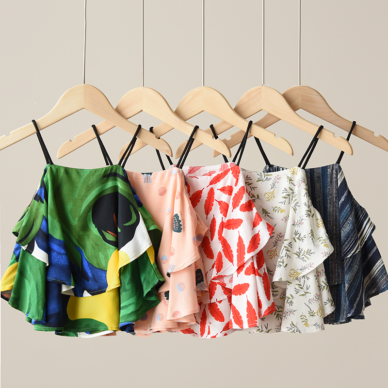Summer Mini Suspender Girls Sling Top Cool Rayon Children's Clothing Tank Toddler Crop Tops For Teens