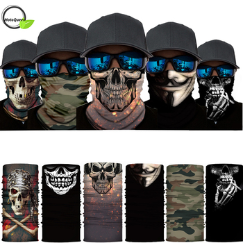 Cycling bicycle Motorcycle Headband Scarf Neck Warmer Skull Helmet Face Mask Ski Balaclava Headband halloween Full Face Shield bjmoto cool skeleton skull motorcycle ski headband sport outdoor neck face mask mtb racing cycling windproof scarf balaclava