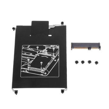 HDD Caddy Adapter Hard Drive Disk Interface Bracket SSD Cable Connector Laptop Accessory Screw for HP 820 G1 G2 hard disk drive caddy tray bracket sata cable connector for dell latitude e7440
