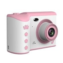 """어린이 카메라 2.8 """"IPS 눈 보호 화면 HD 터치 스크린 디지털 듀얼 렌즈 18MP 카메라 어린이위한 생일 선물"""