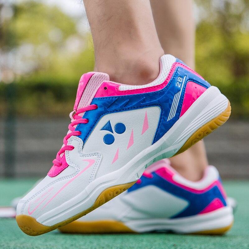 Мужские кроссовки для бадминтона Wo, светло-красные легкие кроссовки для тенниса, на шнуровке, большие размеры 39-46, обувь для волейбола, новин...