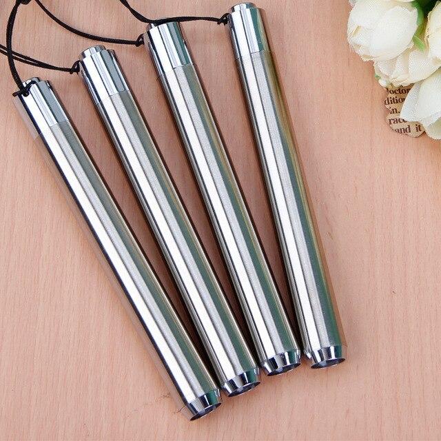 Led UV el feneri Torch Ultra Violet hafif paslanmaz çelik Mini cep feneri lambası AA pil için işaretleyici kontrol algılama