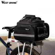 WEST BIKING Cycling Rear Rack Bag 10-25L Volume Waterproof R