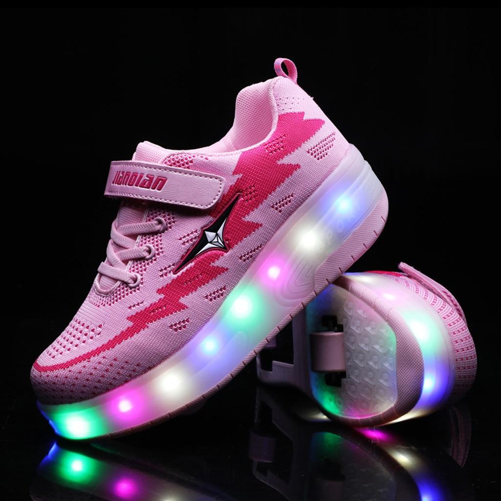 Mudipanda/детская повседневная обувь; светильник для малышей; светодиодные колёса; обувь с USB; модные детские кроссовки; детская обувь; светильни