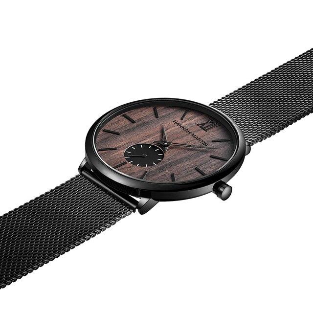 Фото мужские водонепроницаемые часы с сетчатым ремешком из нержавеющей цена