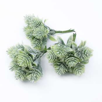 6pcs Plastic floristics artificial plants wedding decorative flowers needlework brooch vases for home decor christmas garland 3