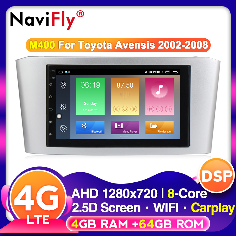 IPS DSP Android 10 Car Radio Video Multimedia Player For Toyota Avensis T25 2002 2008 Support GPS Navigation carplay 4G WIFI BT|Car Multimedia Player|   - AliExpress