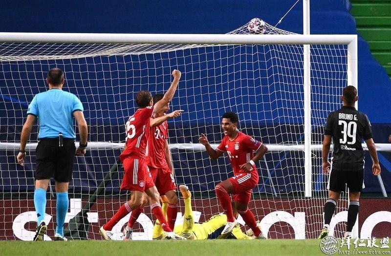 欧冠半决赛 里昂0:3拜仁 大厨两球助我仁进决赛!1