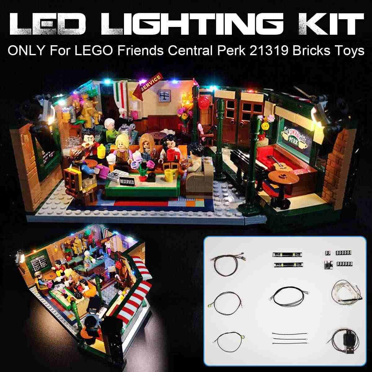 BRICKS LED Light ikit for LEGO Friends Central Perk 21319 Building Blocks DIY