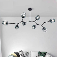 Nordic Modern 4Color Glass Pendant Lights Art Black Gold Pendant Lamp Loft Living Room Bedroom For Home Decoration Hanging Lamp