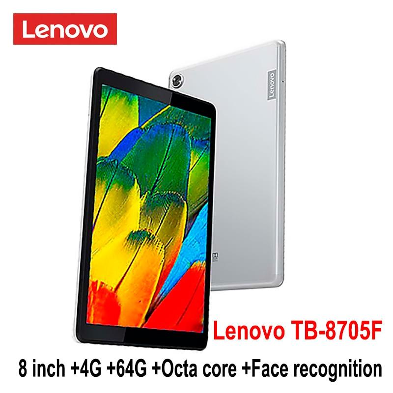 Inteligente Lenovo tablet M8 TB 8705F 8 pulgadas 4G RAM 64G ROM Octa Core WiFi versión 5100mAh cara reconocimiento FHD IPS sonido dolby