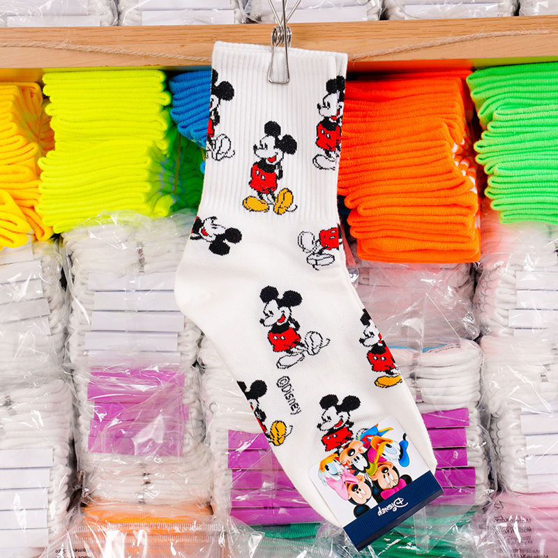 Disney adult socks Mickey Mouse sweet socks adult fashion wild thread cotton socks ladies 6