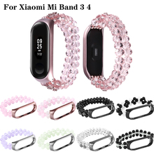 Mi band 4 Agate pearl elastic For xiaomi mi 3 watch Wristband for Xiaomi smart bracelet Accessories