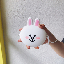 Mini Zipper Earphone Headphone SD Card Storage Box Carrying Pouch Rabbit Cartoon Case Box Women Coin Purses Wallet For Gift