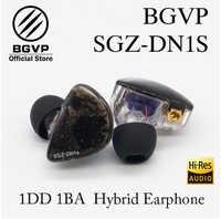 Auricular híbrido BGVP HIFI DN1S MMCX interfaz desmontable controlador dinámico de armadura equilibrado IEMs resina Shell Multic