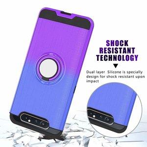 Image 3 - 360 ° rotating caso anel Para Samsung Galaxy A20 A30 A40 A50 A505 A30S A50S A70 A80 A90 A10s 2 em 1 caso de telefone à prova de choque